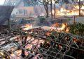 Kondisi Rumah yang Sedang Terbakar (Foto: IST)