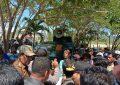Suasana Aksi di Kantor Bupati Konkep (Foto: Jubirman)